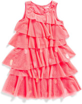 Billieblush Billie Blush Girls Sleeveless Tulle Ruffle Dress