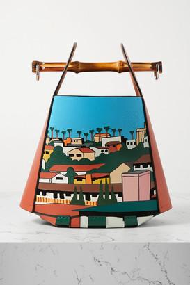 Loewe + Ken Price La Series Leather And Bamboo Bucket Bag - Red
