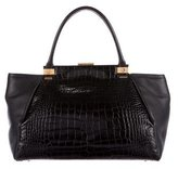 Lanvin Embossed Trilogy Tote