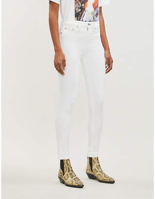 Rag & Bone Raw-hem ankle-length skinny high-rise jeans