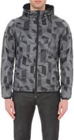Armani Jeans Reversible geometric-print shell jacket