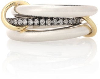 Spinelli Kilcollin Libra Noir sterling silver and 18kt gold rings with diamonds
