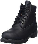 Timberland Men's 6 inch Premium Waterproof Boot, Black Nubuck, 7.5 M US