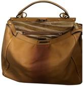 Fendi Peekaboo Beige Leather Handbags