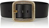 Saint Laurent Women's Leather Wide Belt-BLACK