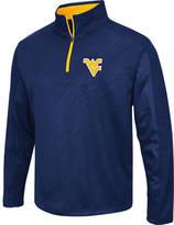 Men's Stadium West Virginia Mountaineers College Embossed Sleet Quarter-Zip Pullover