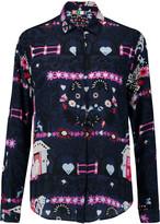 MSGM Printed silk blouse