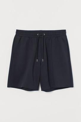 H&M Regular Fit Jersey Shorts - Blue