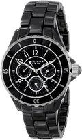 Akribos XXIV Women's AK544BK Ceramic Multi-Function Bracelet Watch