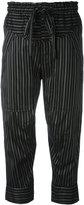 Isabel Marant striped cropped trousers - women - Silk/Cupro - 40