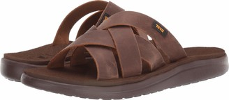 Teva Voya Slide Leather Pecan 7