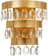 Crystorama Perla 2-Light Sconce, Gold