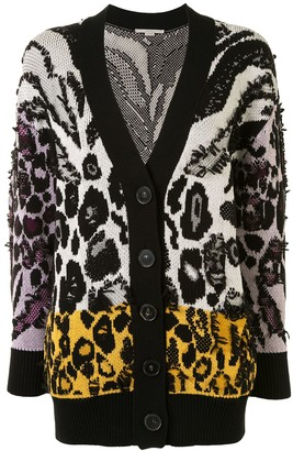 Stella McCartney Multi-Animal Pattern Knitted Cardigan