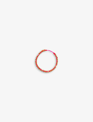 THE ALKEMISTRY Redline Eclipse 18ct gold and silk thread ring
