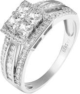 Master of Bling 4 Princess Cut Womens Ring Solitaire 925 Sterling Lab Diamonds Engagement