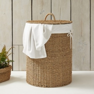The White Company Seagrass Laundry Basket, Natural, One Size