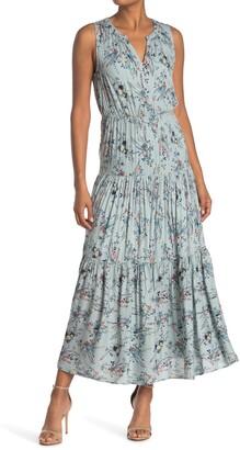Dr2 By Daniel Rainn Floral Print Tiered Maxi Dress