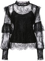 Josie Natori camisole lace blouse