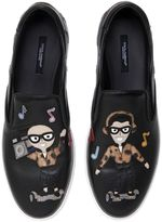 Dolce & Gabbana Dj Designers Leather Slip On Sneakers