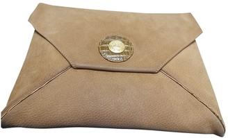 Fendi Camel Suede Clutch bags