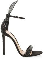 Gianvito Rossi Natalia Sparkle Leather Sandals