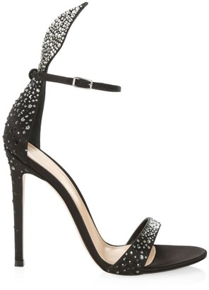 Gianvito Rossi Natalia Sparkle Leather Sandals