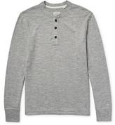 Rag & Bone Mélange Cotton-blend Jersey Henley T-shirt