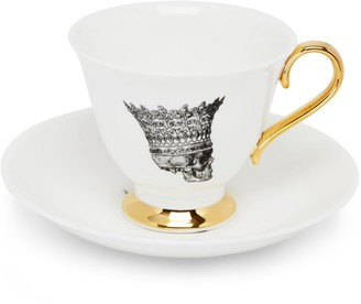 Melody Rose London Skull In Crown Teacup & Saucer