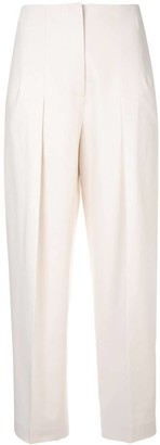 Jil Sander Navy Straight-Leg Tailored Trousers
