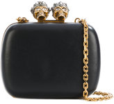 Alexander McQueen queen and king skeleton box clutch - women - Leather/metal/glass - One Size