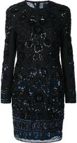Needle & Thread sequined lace overlay fitted dress