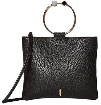 THACKER Le Pouch-Beaded Ring Crossbody (Black) Handbags
