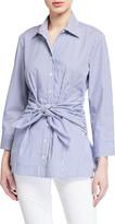 Finley Ellis Ralph Stripe Tie-Front Button-Down Shirt