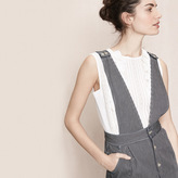 Maje Striped denim dress with straps