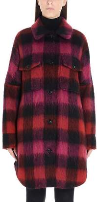 Woolrich Oversize Checked Shirt Coat