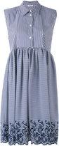 P.A.R.O.S.H. striped sleeveless midi dress - women - Cotton/Polyamide/Spandex/Elastane/Polyester - S