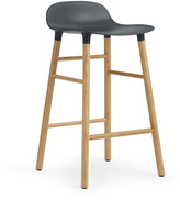Normann Copenhagen Form Barstool H65cm Green/Oak