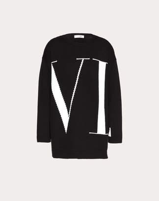 Valentino Maxi Vltn Jumper Women Black Cashmere 100% L