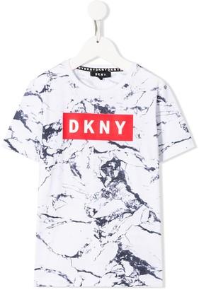 DKNY marble logo print T-shirt
