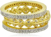 Freida Rothman Crown Set of 3 Stackable Ring, Size 7