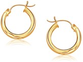 Ice 14K Yellow Gold Hoop Earring with Diamond-Cut Finish (20mm Diameter)