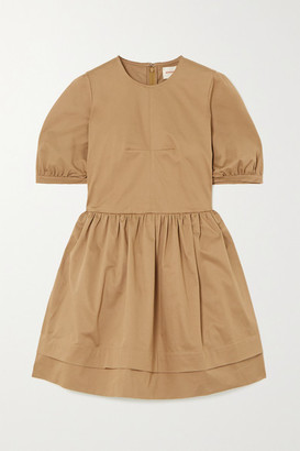 &Daughter Esther Stretch Organic Cotton Twill Mini Dress - Sand