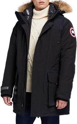 Canada Goose Men's Erickson Parka Coat w/ Fur Trim