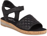 Sesto Meucci Sela Quilted Leather Flat Sandals, Black