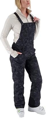 Obermeyer Malta Bib Overalls (Charcoal) Women's Clothing