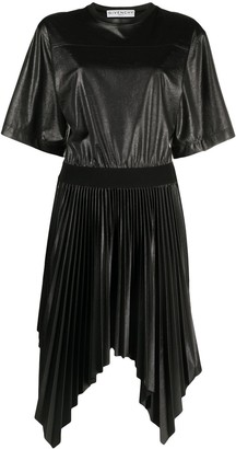 Givenchy Pleated Handkerchief-Hem Dress