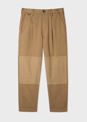 Paul Smith Men's Tan Panelled Carpenter Trousers