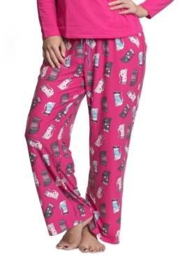 Muk Luks Plus Size Printed Pajama Pants