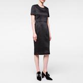 Paul Smith Women's Black Crinkle-Textured Shift Dress