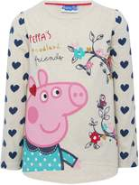 M&Co Peppa Pig heart print top